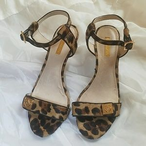 Louise et Cie cow hair heels euc